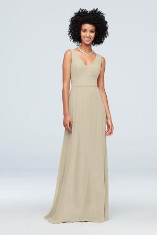 a26d153464 Soft   Flowy David s Bridal Long Bridesmaid Dress