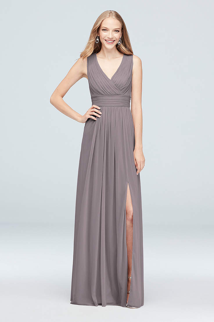 3d85edf8854 Soft   Flowy David s Bridal Long Bridesmaid Dress