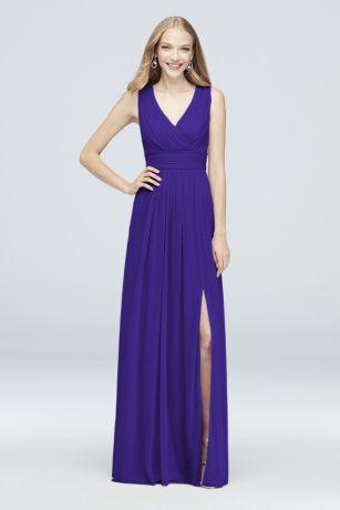 96cc3a886e8 Soft   Flowy David s Bridal Long Bridesmaid Dress