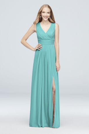 Long Turquoise Blue Bridesmaid Dresses