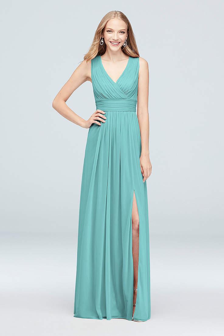 Soft   Flowy David s Bridal Long Bridesmaid Dress c82e7ea8dfd1