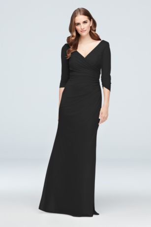 Long Sheath 3/4 Sleeves Dress - David's Bridal
