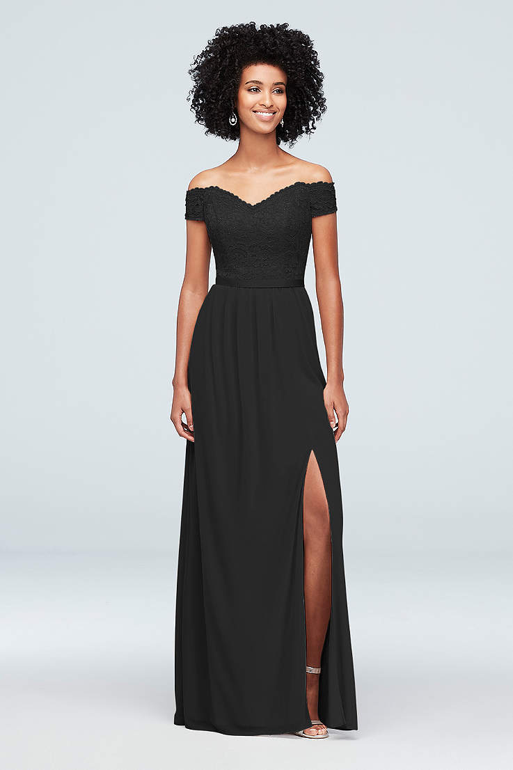 ee8444f39e513 Black Evening Dresses & Gowns: Short & Long | David's Bridal