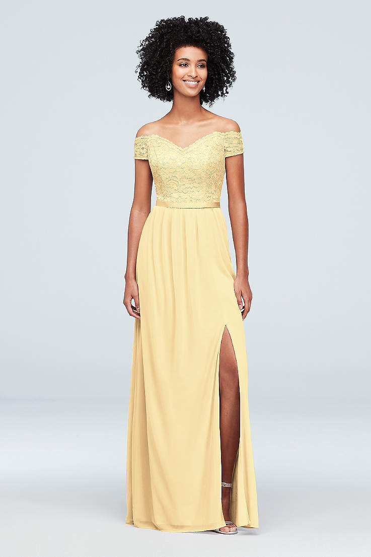 6164fd7690d0 Yellow Bridesmaid Dresses in Pale, Mustard & Pastel Shades | David's ...