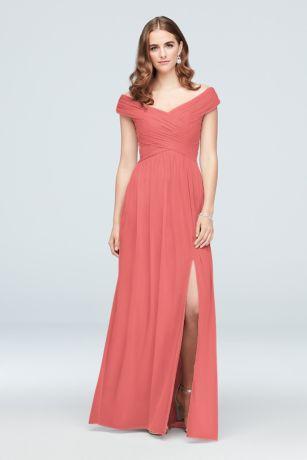 43b8136a570b3 Coral Bridesmaid Dresses - Salmon, Melon, Coral Formal Gowns ...
