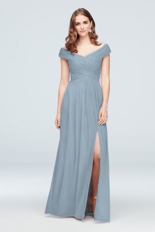 Blue Bridesmaid Dresses Pale Dark Blue David S Bridal