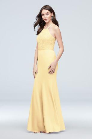 Long Mermaid/ Trumpet Halter Dress - David's Bridal