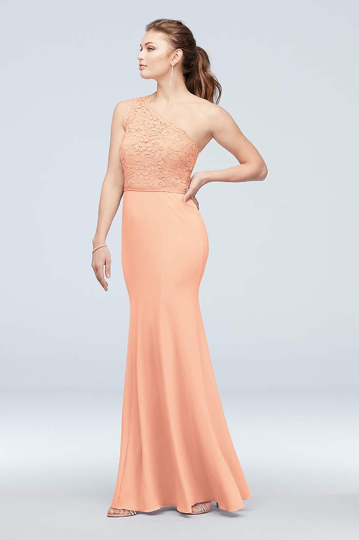 625c8b6c Soft & Flowy;Structured David's Bridal Long Bridesmaid Dress