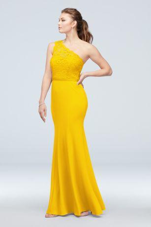 Long Mermaid/ Trumpet One Shoulder Dress - David's Bridal