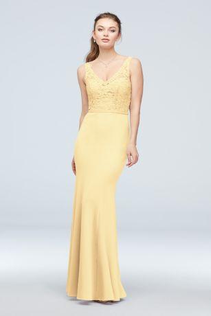 Long Mermaid/ Trumpet Tank Dress - David's Bridal