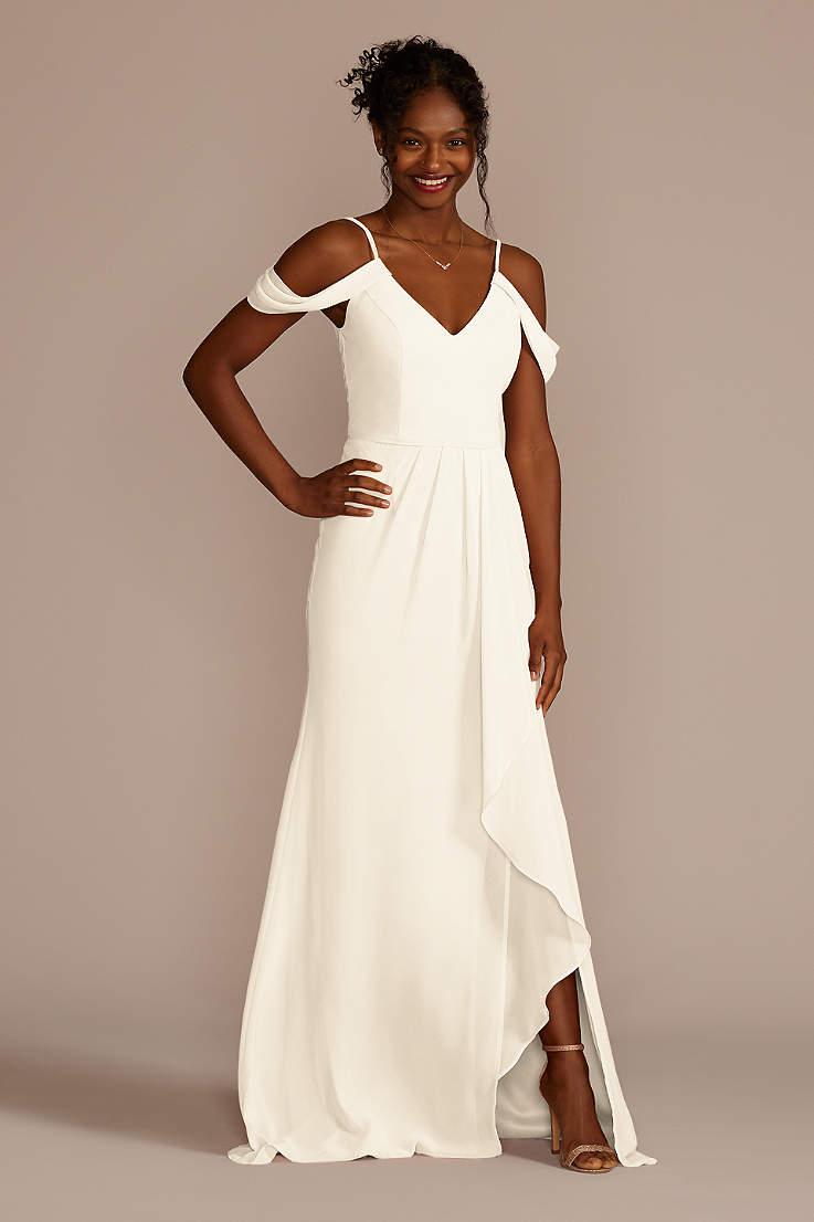 08af56ace67 White Bridesmaid Dresses: Short & Long   David's Bridal