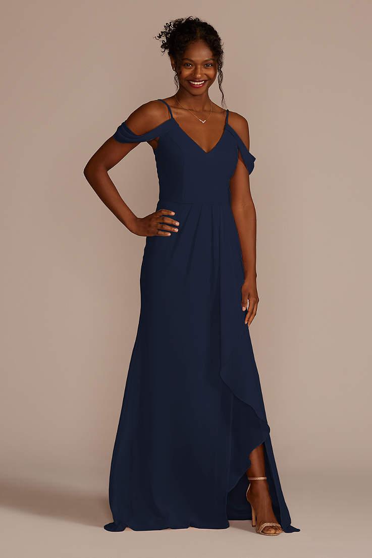 f2fbe55cbc15a Navy Blue Bridesmaid Dresses for Weddings | David's Bridal