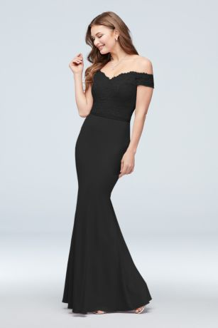 Long Mermaid/ Trumpet;Sheath Off the Shoulder Dress - David's Bridal