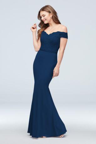 af56a78f6721 Soft & Flowy;Structured David's Bridal Long Bridesmaid Dress