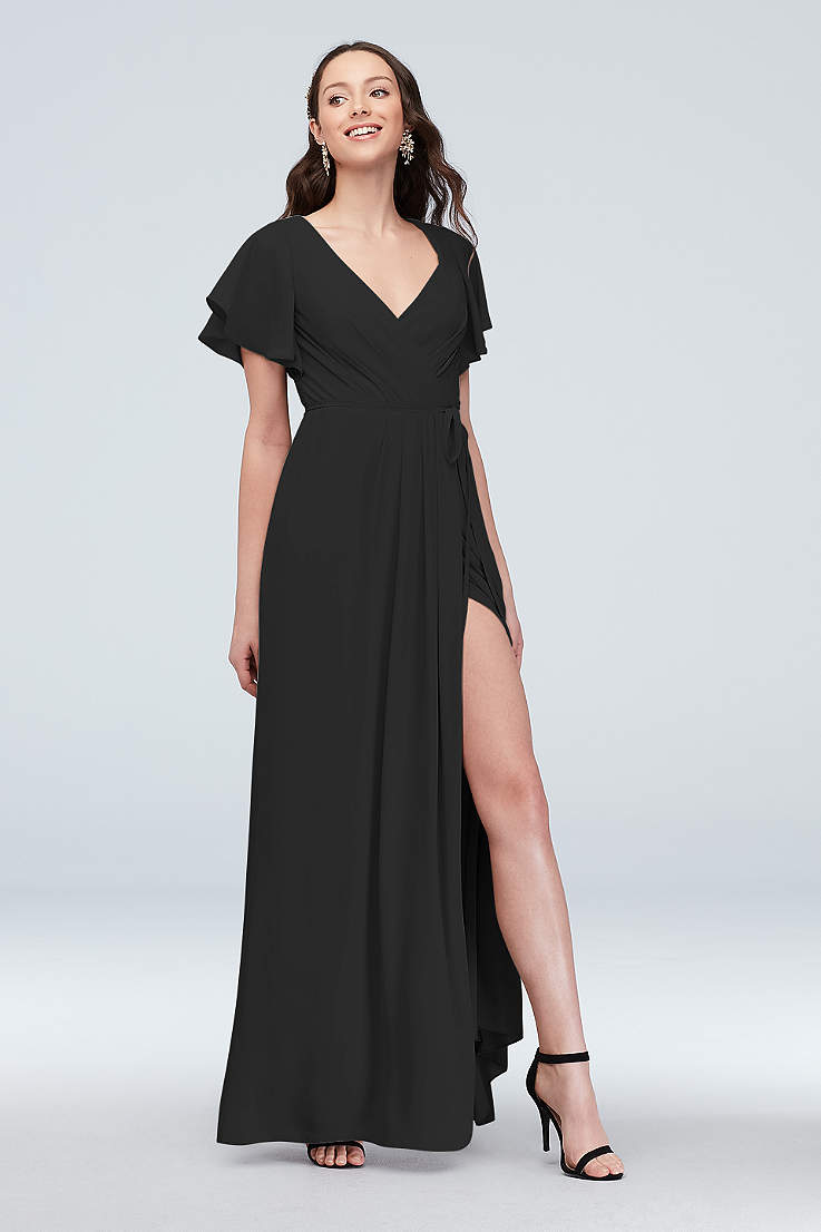 0c7ba4420 Long Sheath Short Sleeves Dress - David's Bridal