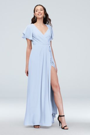 166f667eb666 Soft & Flowy David's Bridal Long Bridesmaid Dress