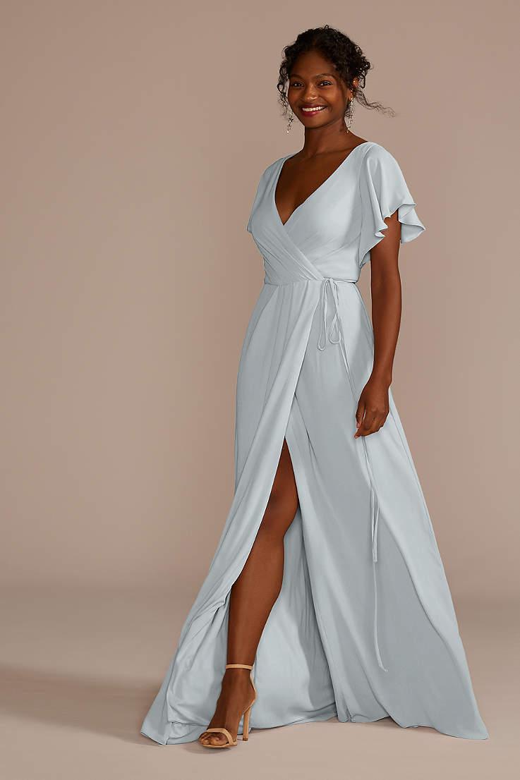 e13c48856b7 Metallic Silver Bridesmaid Dresses - Sparkly, Sequin Gowns | David's ...