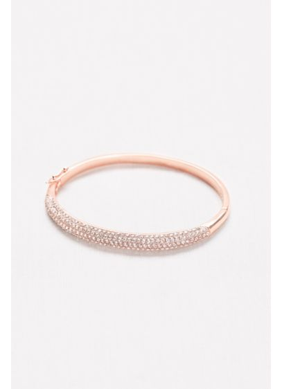 Pave Hinge Bangle - Sleek and simple, this classic bangle gleams with