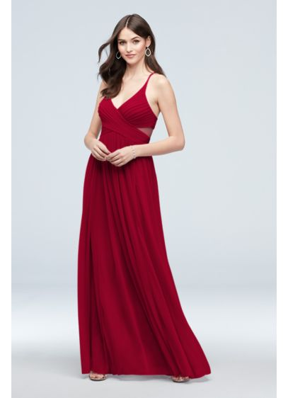 Mesh Illusion Cutout Full Skirt Bridesmaid Dress - The pops of detail make this seemingly simple