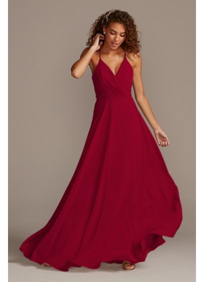 Spaghetti Strap Full Skirt Bridesmaid