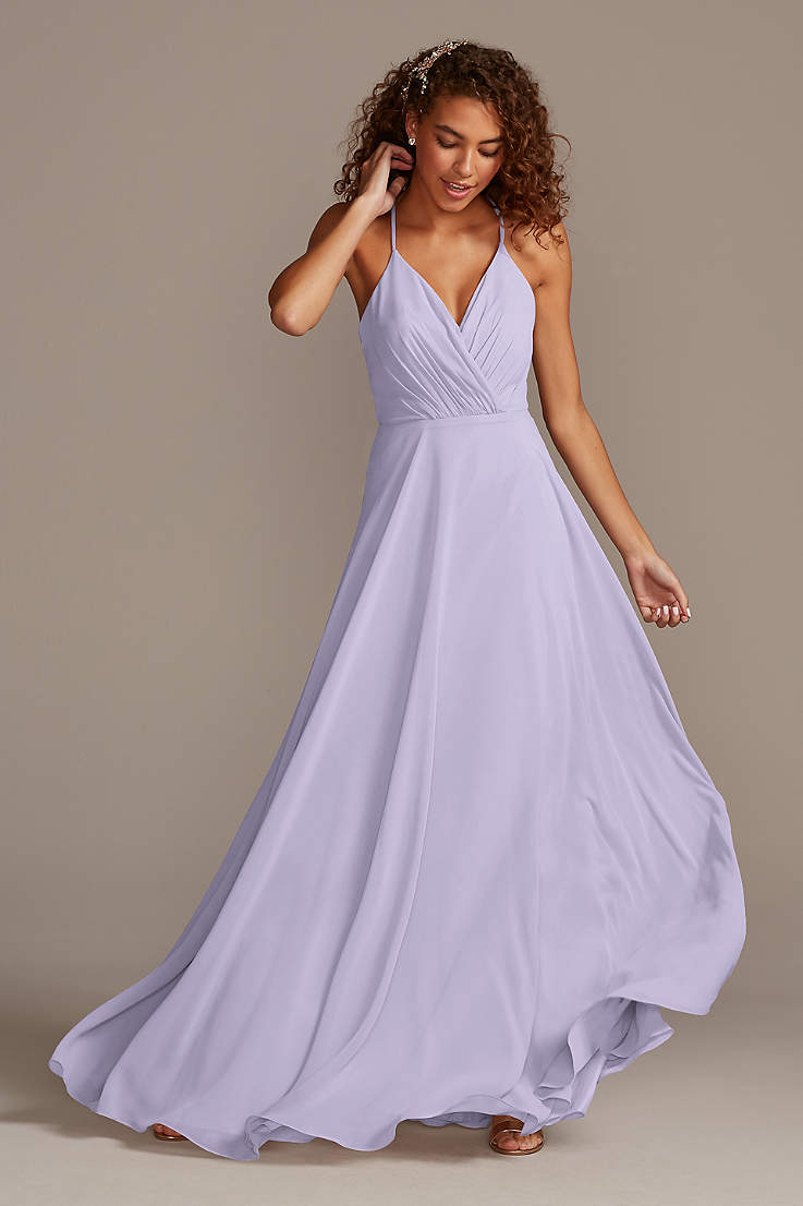 Lilac Lavender Bridesmaid Dresses David S Bridal