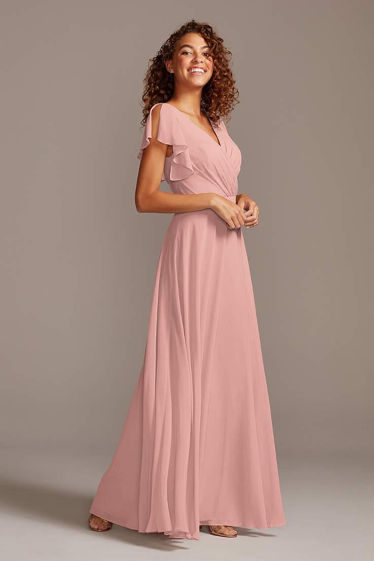 Blush Bridesmaid Dresses Blush Pink Colored Dresses David S Bridal,Simple Maroon Dress For Wedding Guest