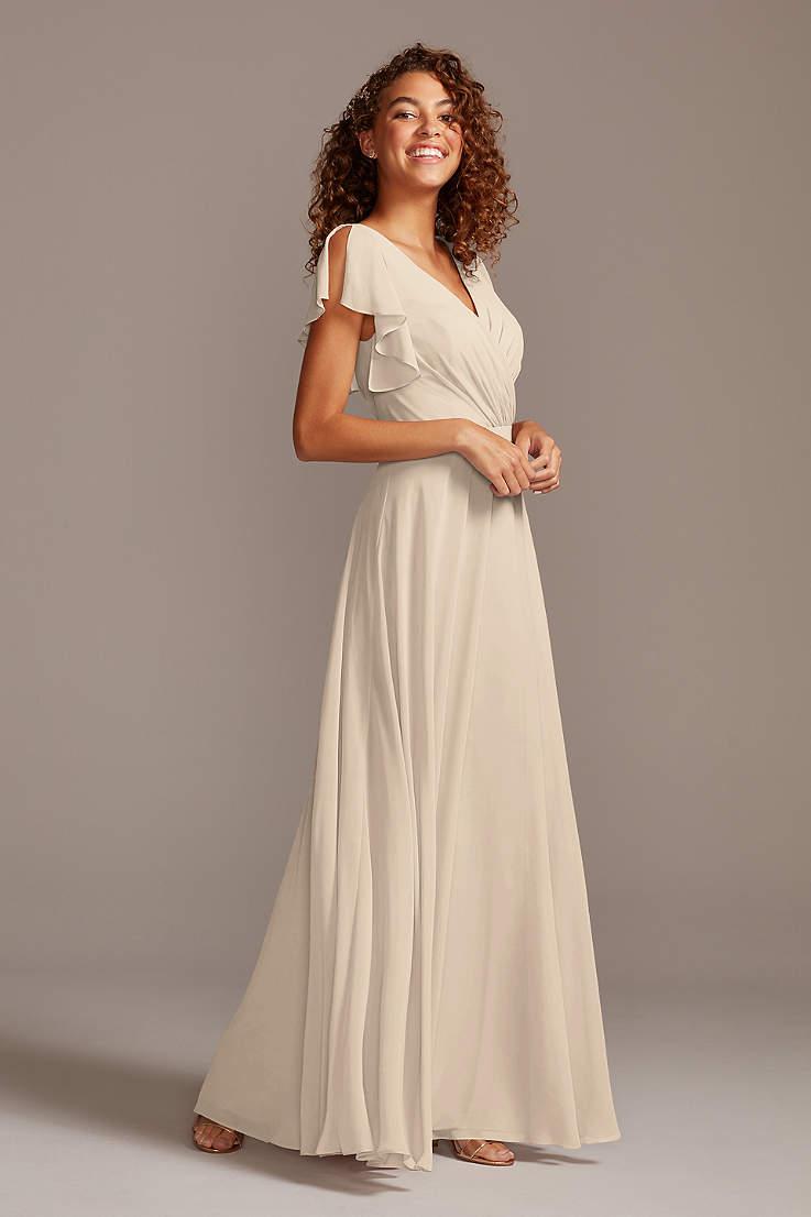 Champagne Colored Bridesmaid Dresses David S Bridal