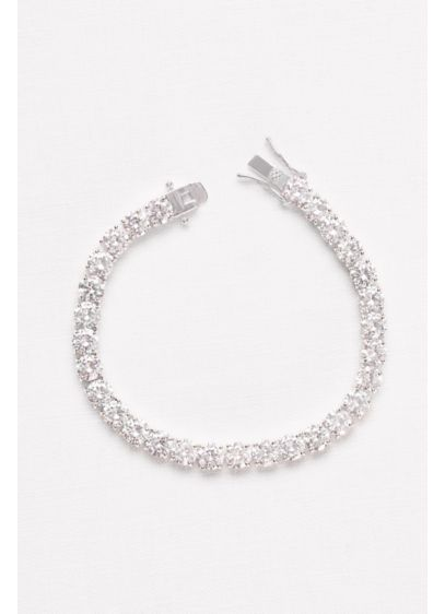David's Bridal Grey (6MM Cubic Zirconia Solitaire Bracelet)