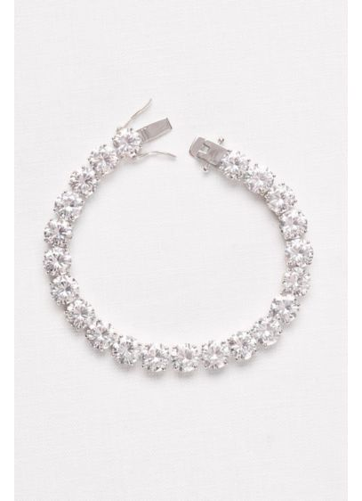 8MM Cubic Zirconia Solitaire Bracelet - Wedding Accessories