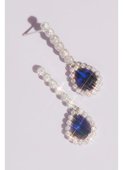 Pear Sapphire Drop Earrings - Wedding Accessories