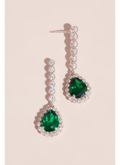 Gemstone Pear Drop Earrings - Wedding Accessories
