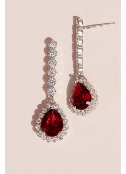 Gemstone Pear Drop Earrings - Wedding Accessories