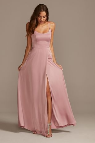 Struct David's Bridal Long Bridesmaid Dress