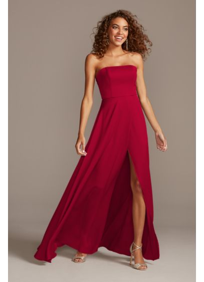 Crepe-Back Satin Strapless Bridesmaid Dress - Radiate modern glamour in this clean-lined, crepe-back satin
