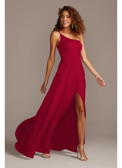 Crepe-Back Satin One-Shoulder Bridesmaid Dress - Radiate modern glamour in this clean-lined, crepe-back satin