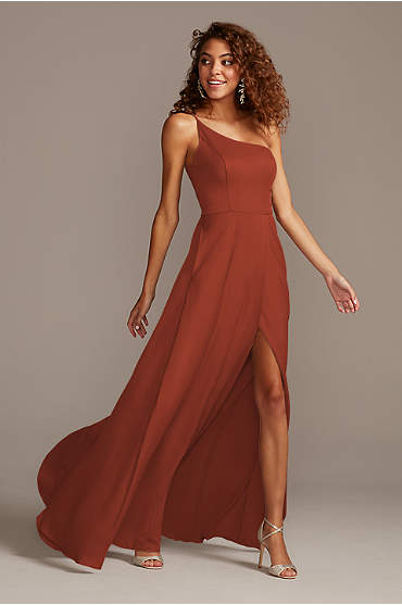 Crepe-Back Satin One-Shoulder Bridesmaid Dress