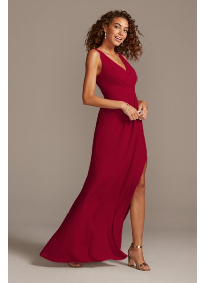 Pleated Tank Stretch Crepe Bridesmaid Dress - For a clean and modern wedding look, choose