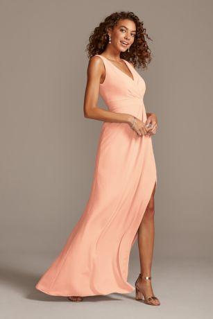 David's Bridal Long Bridesmaid Dress
