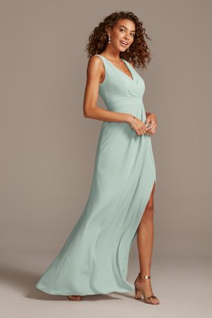David's Bridal Long Bridesmaid Dress