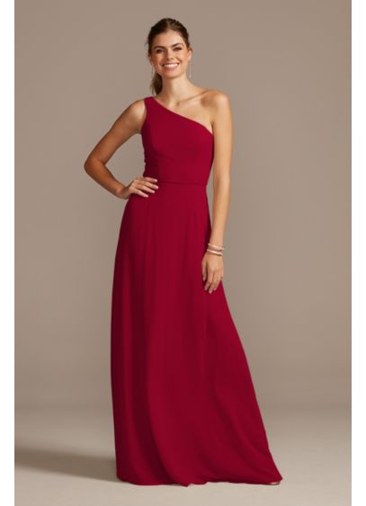 One-Shoulder Simple Chiffon Bridesmaid Dress - Simple and classic, this asymmetric one-shoulder chiffon bridesmaid