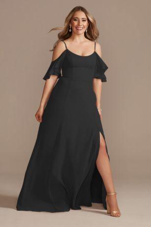 Long A-Line Off the Shoulder Dress - David's Bridal