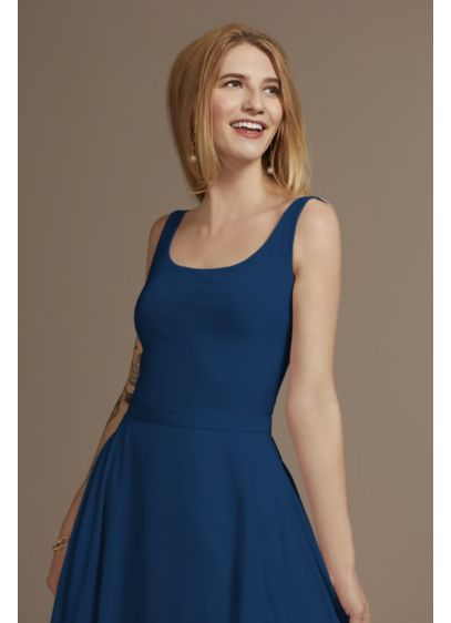 Bridesmaid Separates Jersey Tank Bodysuit - This square-neck jersey tank bodysuit pairs beautifully with