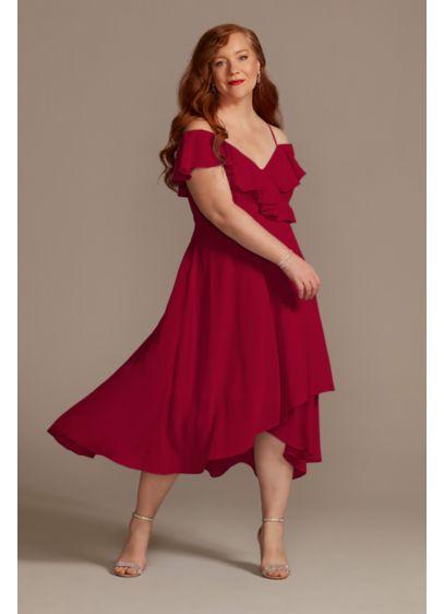 Midi Purple Soft & Flowy Bridesmaid Dress