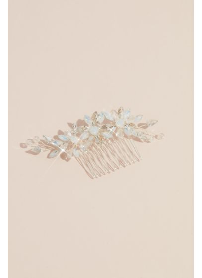 Crystal and Opal Flower Trio Comb - Wedding Accessories