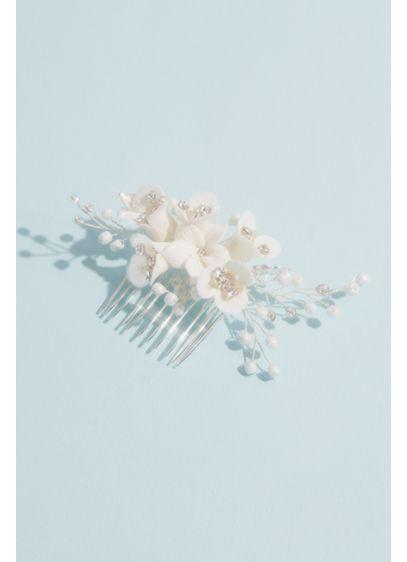 Porcelain Floral Spray Comb - Wedding Accessories