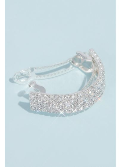 Crystal Embellished Ponytail Holder Hair Cuff - Whether worn with a sleek ponytail, a braid,