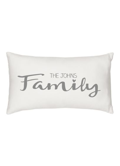 Personalized Family Lumbar Pillow - Wedding Gifts & Decorations