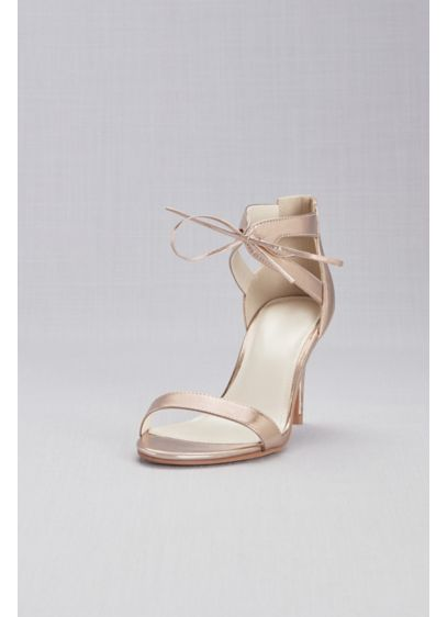 David's Bridal Pink (Metallic Ankle-Tied Sandals)