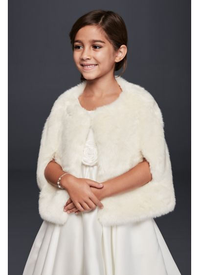 Flower Girl Faux  Fur Cape - Wedding Accessories
