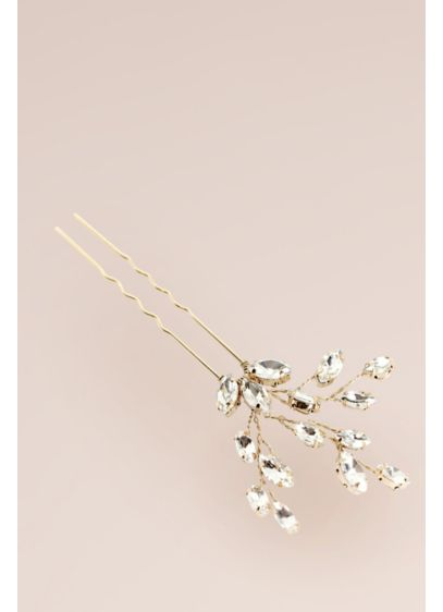 Brides and Hairpins Pink (Hand-Wired Crystal Sprig Hair Pin)
